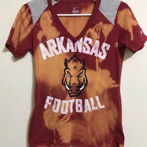 Arkansas football spirit tee M